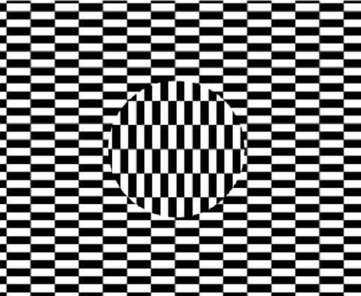 Ilusión. Círculo en movimiento.